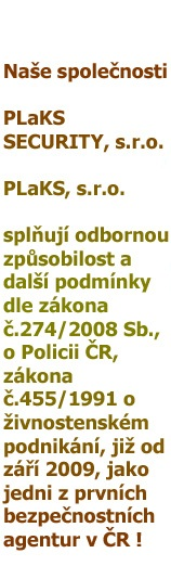 Odborná způsobilost bezpečnostní agentury